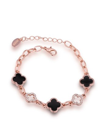Rhinestone Flower Design Chain Bracelet