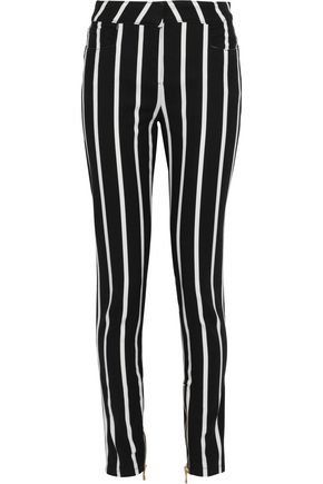 Striped mid-rise skinny jeans   BALMAIN   Sale up to 70% off   THE OUTNET