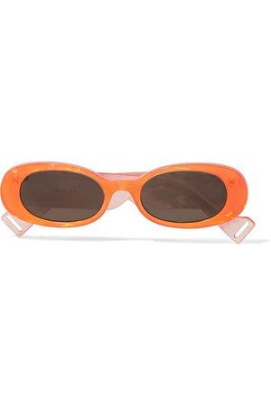 Gucci   Oval-frame acetate sunglasses   NET-A-PORTER.COM