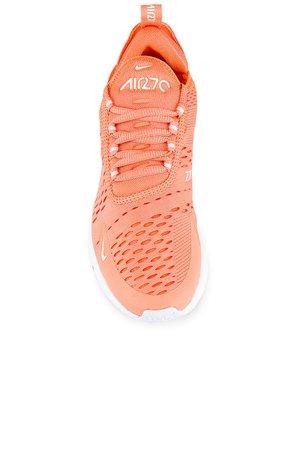 Nike Air Max 270 Sneaker in Crimson Bliss & White | REVOLVE