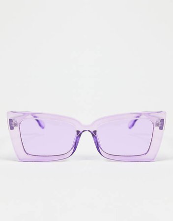 South Beach chunky cateye sunglasses in lilac | ASOS