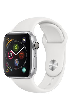 Apple Watch Series 4 (GPS) 40mm Silver Aluminium Case with White Sport Band APPLE — купить за 31990 руб. в интернет-магазине ЦУМ, арт. MU642RU/A