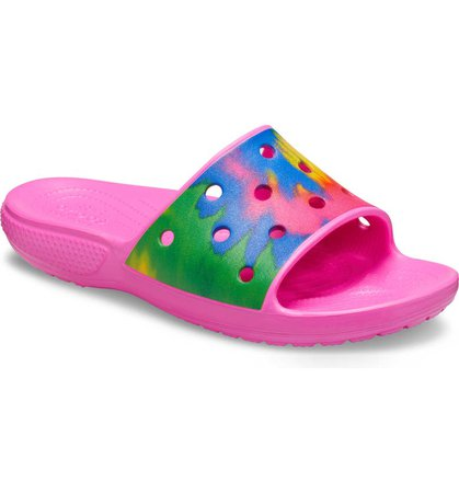 CROCS™ Classic Tie Dye Slide Sandal (Women) | Nordstrom