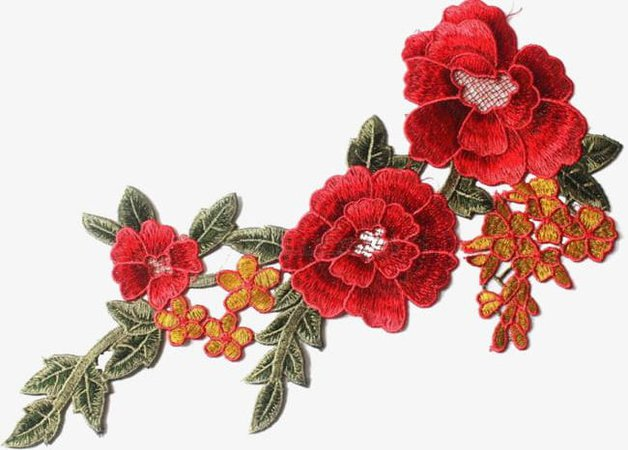 Red Embroidery PNG, Clipart, Beautiful, #1391305 - PNG Images - PNGio