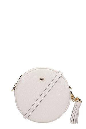 Michael Kors White Leather Canteen Crossbody Bag