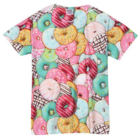 Amazon.com: VIVID SPORTSWEAR Men's Sublimated Donut T-Shirt Top - Photorealistic Print Tee - XL: Clothing