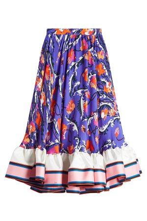Printed Silk Skirt Gr. IT 42