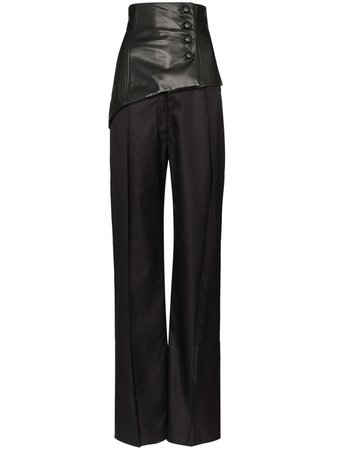 Aleksandre Akhalkatsishvili High Waist Corset Trousers | Farfetch.com