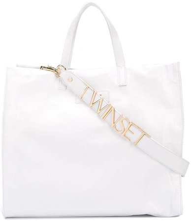 Twin Set structured leather tote