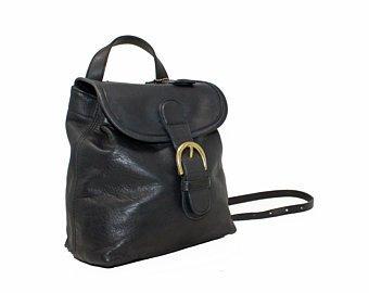 BLACK Coach Mini Backpack Day Pack Buckle Book Bag Rucksack | Etsy