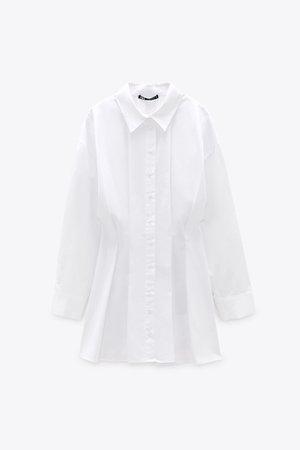 PLEATED SHIRT DRESS TRF   ZARA United States