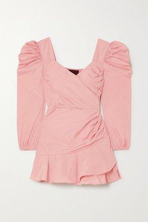 Baby pink Wrap-effect taffeta mini dress | REDValentino | NET-A-PORTER