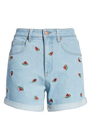 Tinsel Watermelon Mom Shorts   Nordstrom