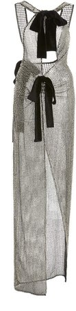 Tom Ford Bow-Embellished Chainmail Dress
