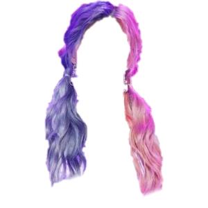 pink & purple hair png
