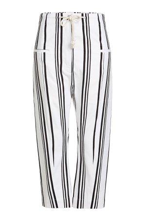 Striped Cotton and Linen Pants Gr. FR 38