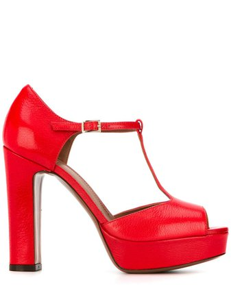 L'autre Chose Heeled Mary Jane Sandals LDK00112WP24664035 Red | Farfetch