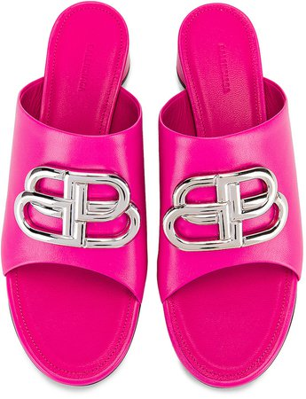 Oval BB Sandals in Pink & Nickel | FWRD