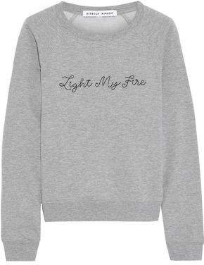 Embroidered Cotton-blend Fleece Sweatshirt