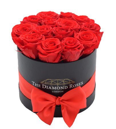Diamond Immortal Original Red (Black box) – Luxury Flower Delivery | Rose boxes with ribbon