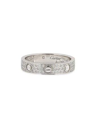 Cartier Bague En Blanc 18ct Ornée Diamants pre-owned - Farfetch