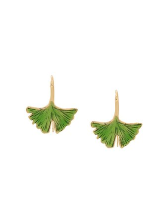 Green & gold Aurelie Bidermann Tangerine earrings - Farfetch