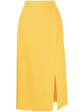 Dolce & Gabbana side slit midi skirt - FARFETCH