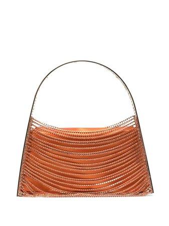 Benedetta Bruzziches crystal-embellished tote orange & gold 4739 - Farfetch