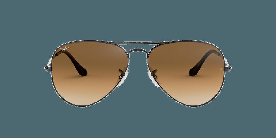 Ray-Ban RB3025 AVIATOR GRADIENT 55 Brown Gradient & Gunmetal Sunglasses | Sunglass Hut USA