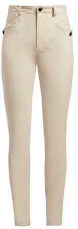 Leonard Skinny Trousers - Womens - Ivory