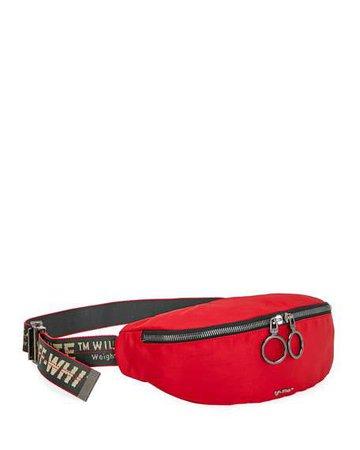 Off-White Men's Web-Strap Belt Bag/Fanny Pack | Neiman Marcus