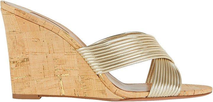 Perugia Cork Wedge Sandals