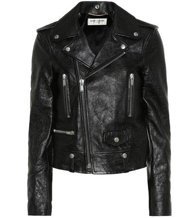 Leather Jacket - Saint Laurent | Mytheresa