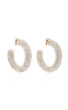 Crystal-Embellished Hoop Earrings By Rebecca De Ravenel | Moda Operandi