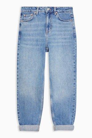 PETITE Mid Stone Mom Jeans   Topshop