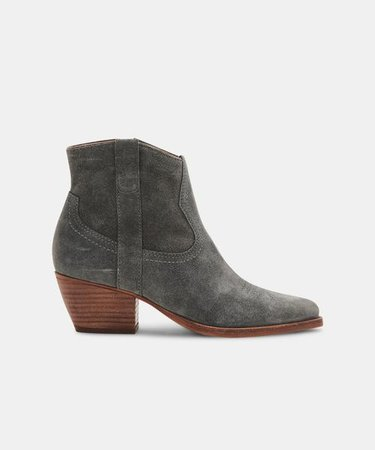 SILMA BOOTIES IN GREY SUEDE – Dolce Vita