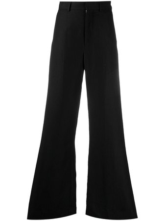 Shop black AMI Paris flared tailored trousers with Express Delivery - Farfetch