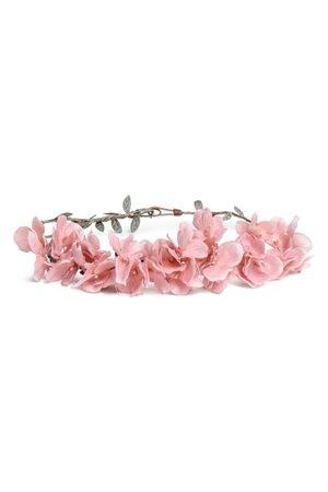 Rigid hairband with flowers - Light pink - Ladies | H&M US
