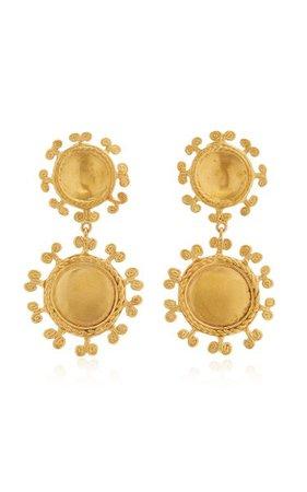 Sue Doble 24k Gold-Plated Earrings By Cano   Moda Operandi