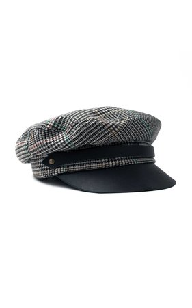 Glen Plaid Corto Chauffeur Hat by Lola Hats | Moda Operandi