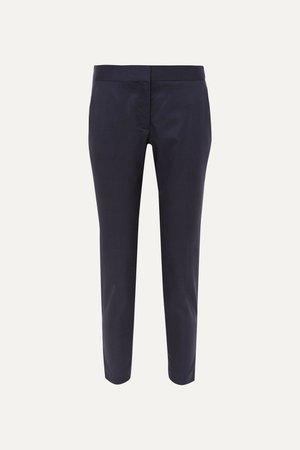 Navy Vivian wool straight-leg pants   Stella McCartney   NET-A-PORTER