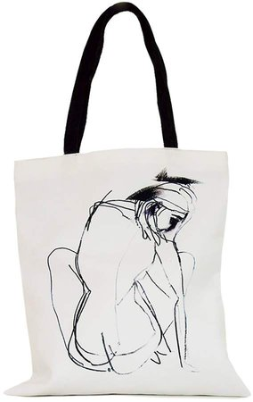 ROSEHIP & WILD - Lines Of A Woman Cotton Shopper Bag