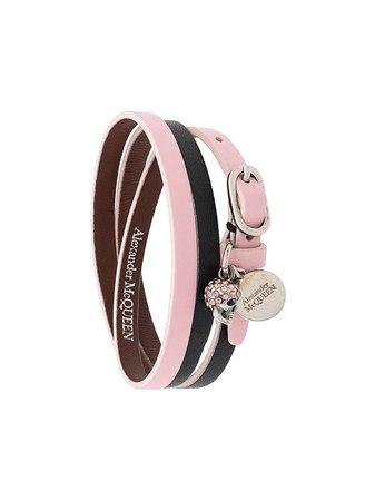 Alexander McQueen Triple Leather Bracelet | Farfetch.com