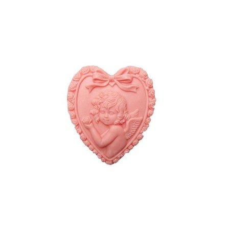 pink heart stone