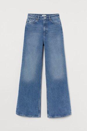 Wide Ultra High Waist Jeans - Blue