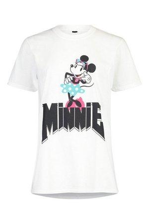 Disney Minnie Band Tee | boohoo