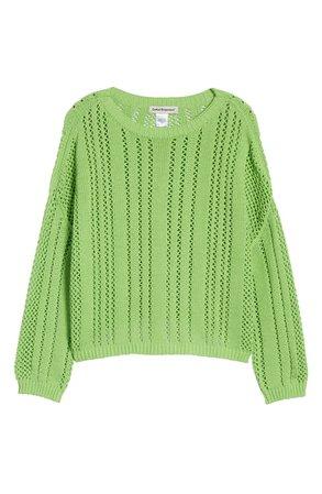 Cotton Emporium Open Stitch Sweater   Nordstrom
