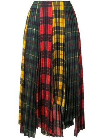 Monse Plaid colour-block Pleated Skirt - Farfetch