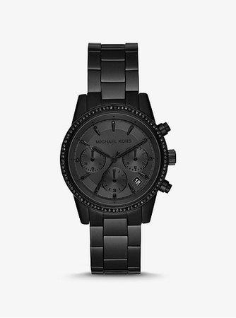 Ritz Black-tone Watch | Michael Kors
