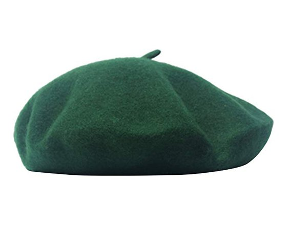 AIYUE® Women Men French Beret Wool Warm Beanie Hat Solid Color Artist Painter Fancy Dress Costumes Black/Army Green at Amazon Women's Clothing store: